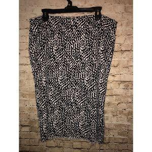 VINCE CAMUTO Animal Print Skirt W/ Slip Size 1X